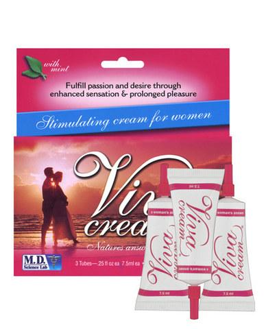 Viva Cream 3 Tube Box -  7.5ml Each Mint Flavor