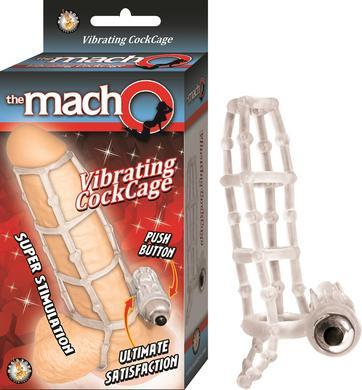 The Macho Vibrating Cockring - Clear