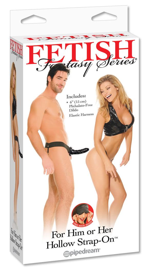 Fetish Fantasy Series for Him or Her Hollow Strap-on - Black