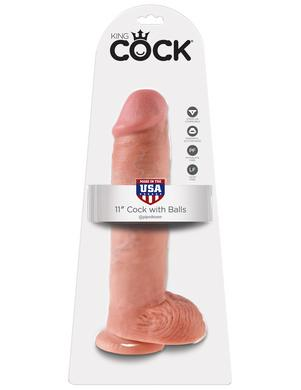 King Cock 11-inch Cock with  Balls - Flesh