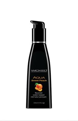 Aqua Sweet Peach Flavored Water Based Lubricant -   4 Oz. - 120 Ml