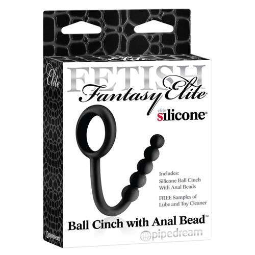 Fetish Fantasy Elite Ball Cinch With Anal Bead - Black