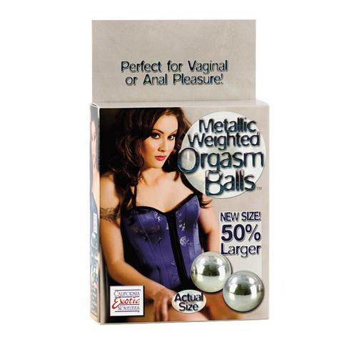 Weighted Orgasm Balls Metallic - Silver