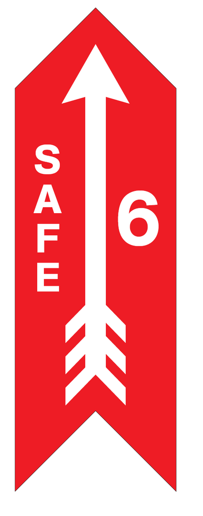 CUSTOM #Safe6 Large Arrow Decal