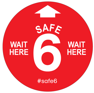 CUSTOM #Safe6 Retail Decal