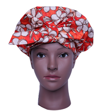 Load image into Gallery viewer, Floral Sunset - Bath Bonnet (Luxury  Shower Cap)