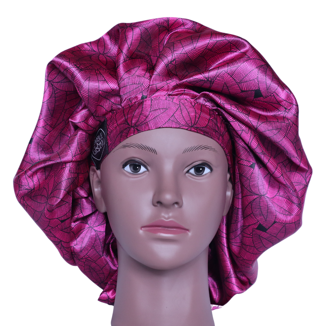 Elite Satin Bonnet - Lac Rose Lotus | Satin Bonnets For Natural Hair