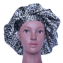 Load image into Gallery viewer, Elite Satin Bonnet - Luxury Jaguar | Satin Bonnets for Natural Hair