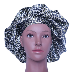 Elite Satin Bonnet - Luxury Jaguar | Satin Bonnets for Natural Hair