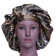 Load image into Gallery viewer, Elite Satin Bonnet - Majestic | Satin Bonnets For Natural Hair