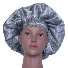 Load image into Gallery viewer, Elite Satin Bonnet - Platinum Lotus | Satin Bonnets For Natural Hair