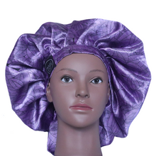 Load image into Gallery viewer, Elite Satin Bonnet - Royal Lotus | Satin Bonnets For Natural Hair