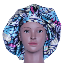 Load image into Gallery viewer, Elite Satin Bonnet - Tropical Breeze | Satin Bonnets For Natural Hair