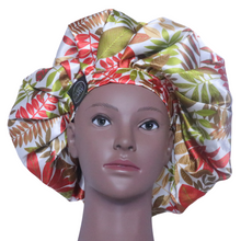 Load image into Gallery viewer, Elite Satin Bonnet - Tropical Cloud | Satin Bonnets For Natural Hair