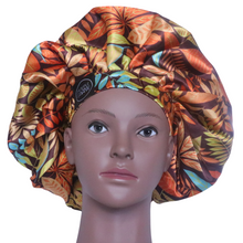 Load image into Gallery viewer, Elite Satin Bonnet - Tropical Earth | Satin Bonnets For Natural Hair