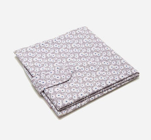 Beige dot Flowers Changing Mat