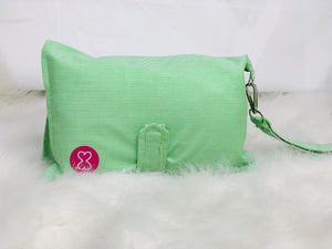 Green Stripes Diaper Wallet