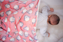 Load image into Gallery viewer, Watermelon Penguin Baby Blanket