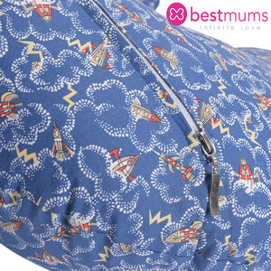 Blue Rockets Nursing Pillow
