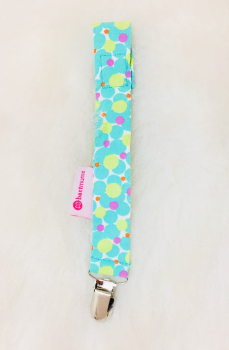Cherry Green Pacifier Clip