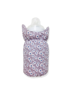 Beige dot flowers Bottle Cover