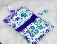 Load image into Gallery viewer, White Purple Diaper Wallet