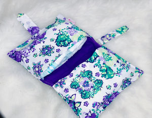 White Purple Diaper Wallet
