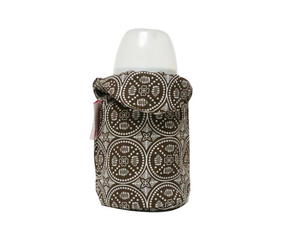 Brown print Bottle Cover