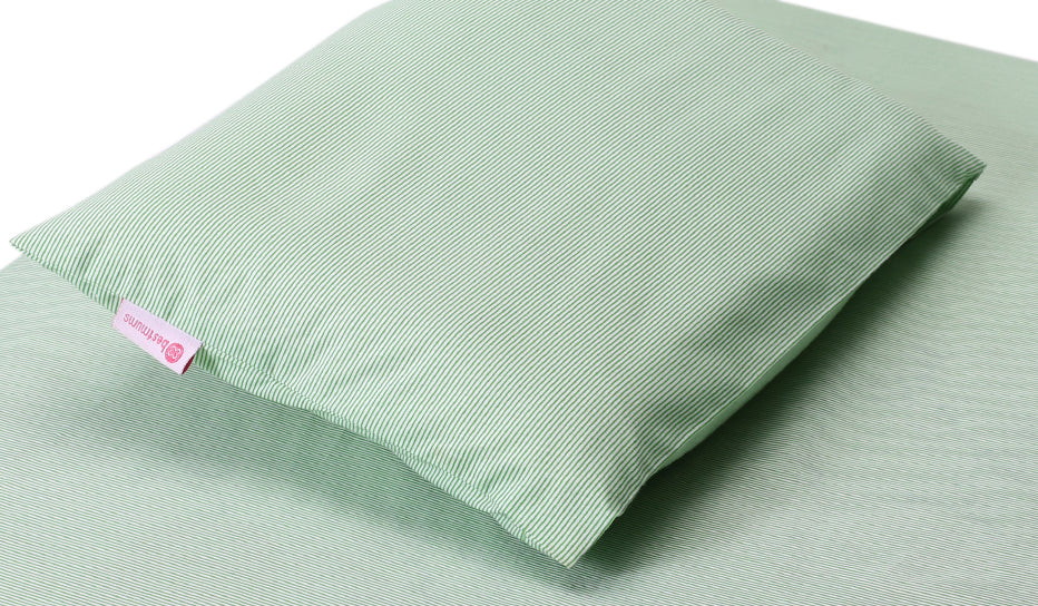 Green Stripes Baby Pillow
