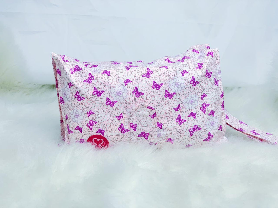 Purple Butterfly Diaper Wallet