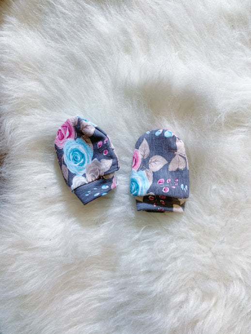 Flowers Baby Mittens
