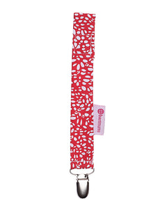 Polka Red Drops Pacifier Clip