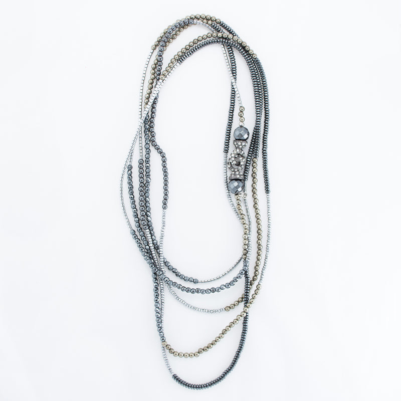Infinity Wrap Mixed Metal Necklace