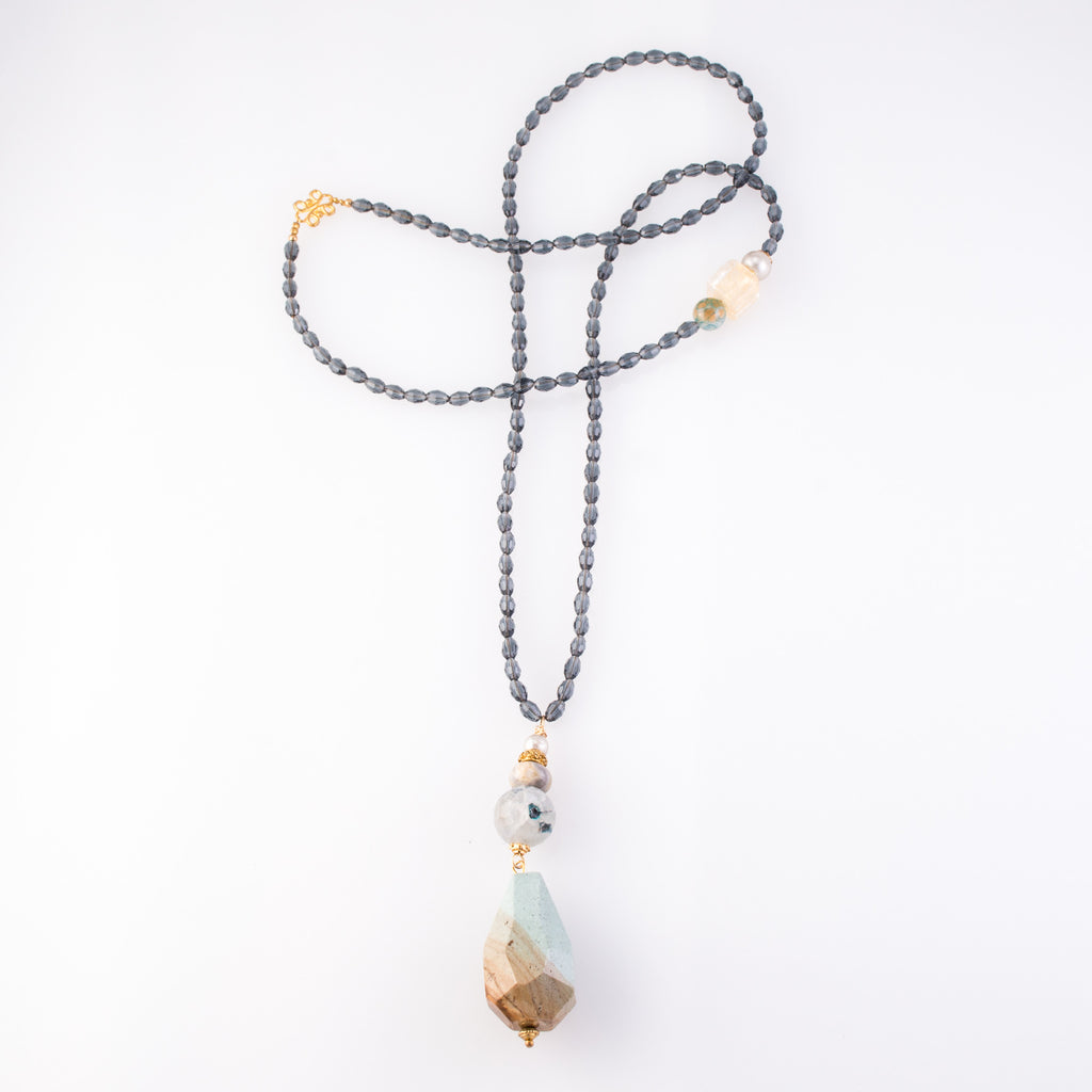 Tibetan Turquoise Double Pendant Necklace