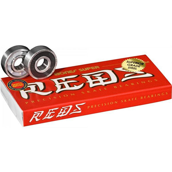 Bones Super Reds Bearings (Pack of 8) - THE BOARDING HOUSE EXETER DEVON EX43AN