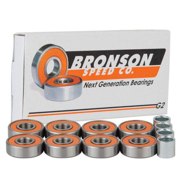 Bronson Speed Co. G2 Skateboard Bearings (Pack of 8) - THE BOARDING HOUSE EXETER DEVON EX43AN