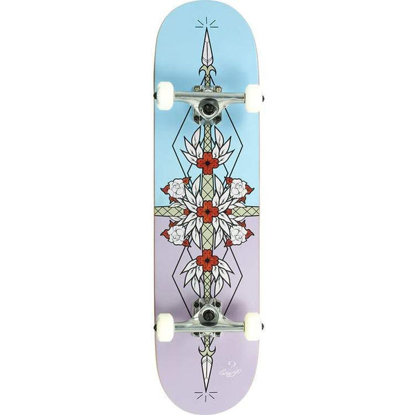"Enuff Flash Complete Skateboard - 8"" Purple Blue - THE BOARDING HOUSE EXETER DEVON EX43AN"