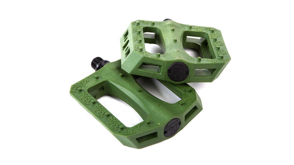 S&M GNS Green Nylon Pedals - THE BOARDING HOUSE EXETER DEVON EX43AN