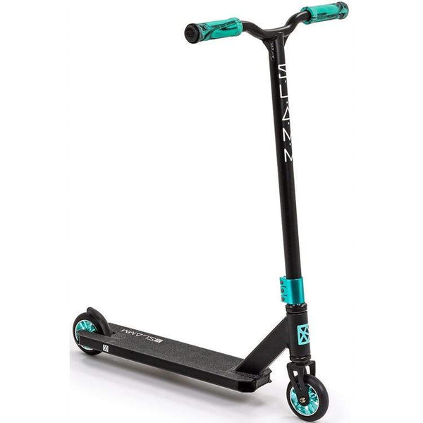 Slamm Classic VII Stunt Scooter Black Teal - THE BOARDING HOUSE EXETER DEVON EX43AN