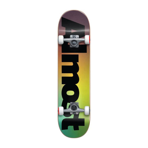 Almost Skateboards Black Fade Complete Skateboard 7.625 - THE BOARDING HOUSE EXETER DEVON EX43AN