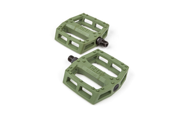 BSD Safari Pedals - Surplus Green - THE BOARDING HOUSE EXETER DEVON EX43AN