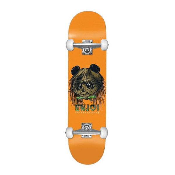 "Enjoi Skateboards 80s Head Orange Complete Skateboard 7.5"" - THE BOARDING HOUSE EXETER DEVON EX43AN"