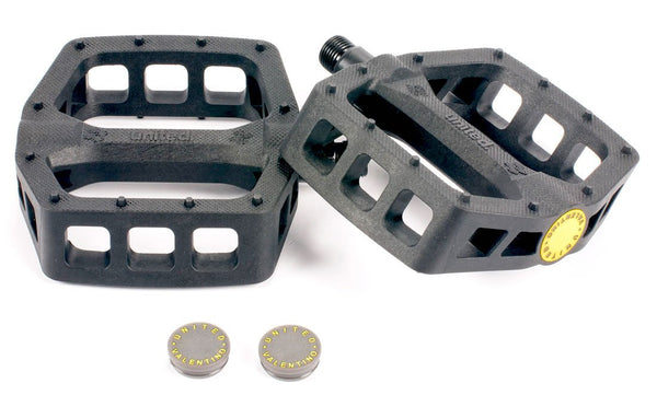 United Valentino Nylon Pedals Black - THE BOARDING HOUSE EXETER DEVON EX43AN
