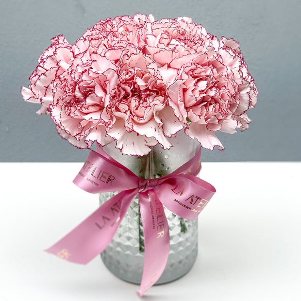 Timeless Special Pink Carnations - LA ATELIER SINGAPORE