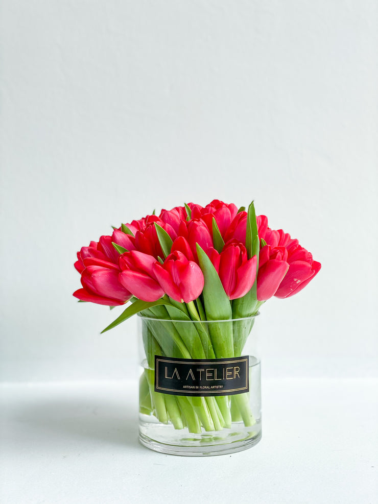 LA ATELIER SINGAPORE PTE LTD | Timeless Rouge Passion Tulips