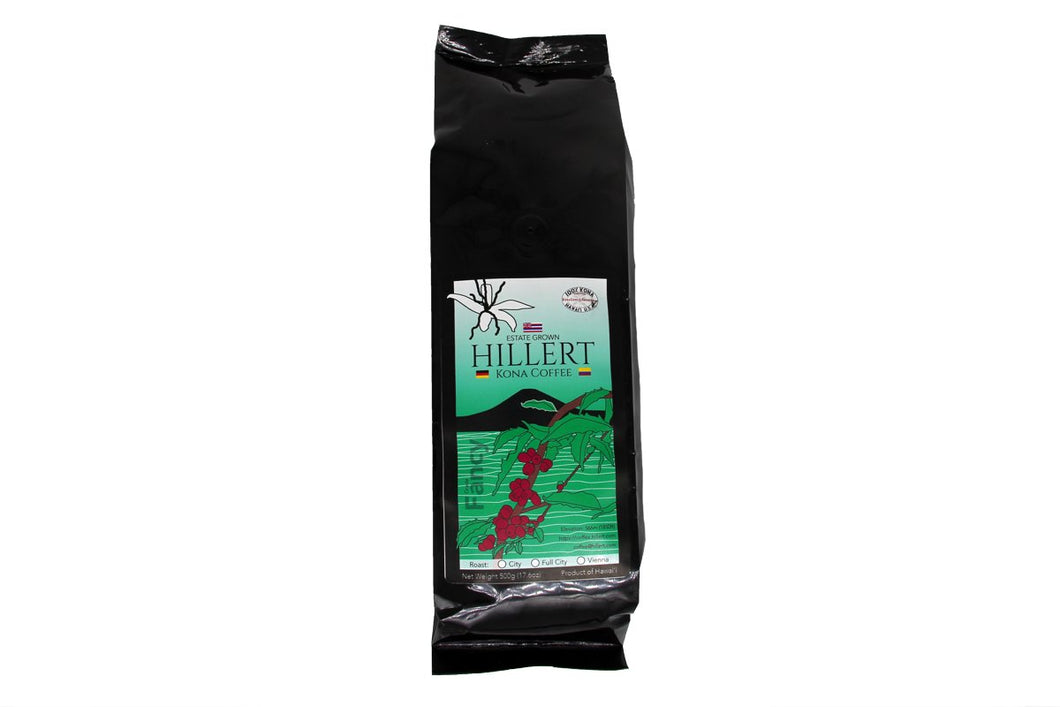 100% Kona Coffee - Hillert Estate Farm, Full City Roast