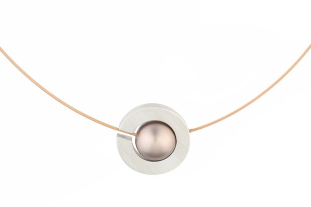 Collier Cirkel met Kogel C127ROSE