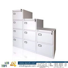 Load image into Gallery viewer, Ayoubi 2-3-4 Drawer Filing Cabinets - Model No. 104 - Ayoubi Steel Furniture Factory