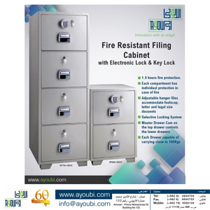 Ayoubi Fire Resistant 2 and 4 Drawer Filing Safes - Model No. SF750-4EKK - Ayoubi Steel Furniture Factory
