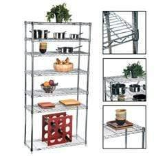Ayoubi Wire Shelving (Chrome Plated) - Model No. W4090 - Ayoubi Steel Furniture Factory